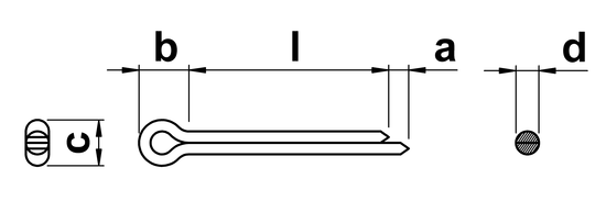 technical drawing of Cotter Pins (DIN 94)